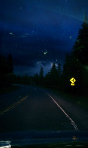 Starry night driving home